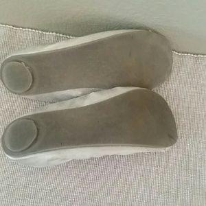 NY&C Shoes - NY&C nude shimmery ballet flat elastisized size 9